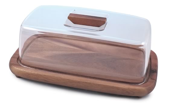 Acacia Serving Board with Dome
