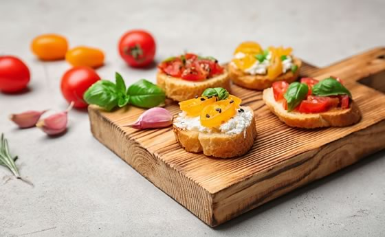 Bread and tomatoes