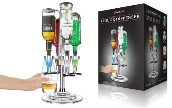 Bar Caddy - 4 Bottles with LED