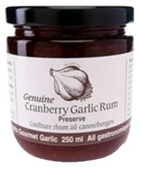 Garlic Cranberry Rum Preserve