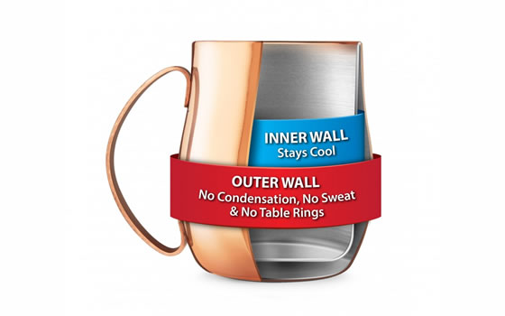 Copper Moscow Mule Cup, double wall