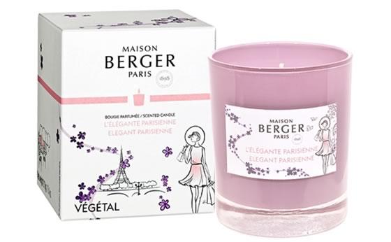 NEW Elegant Parisienne Natural Scented Candle by Maison Berger Paris
