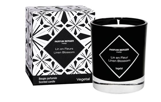 Linen Fleurs Graphic Candle
