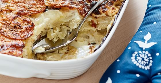 Pomme Dauphinoise with Mushrooms