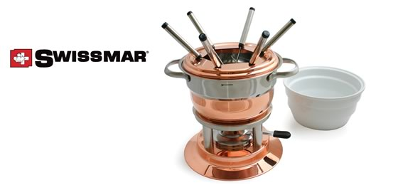 Swissmar Lausanne 3 in 1 Copper Fondue Set