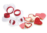 Cuisipro Heart Shaped Cookie Cutters
