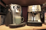 Top off the meal with a specialty coffee - Saeco and Krups Coffee makers